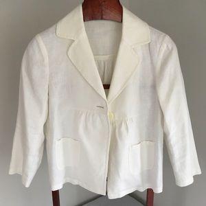 MICHAEL Michael Kors White Linen Blazer, size 6